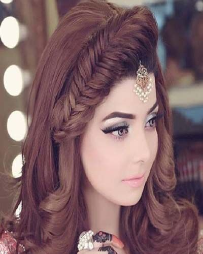 Stylish Eid Hairstyle For Medium Long Hair Party 2019 Hair Styles Hair Styles 2017 Party Hairstyles