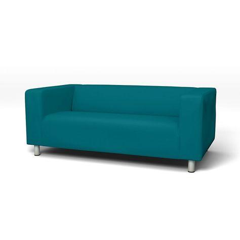 Klippan Sofabezuge 2er Regular Fit Diesen Stoff Anwenden Panama Cotton Absolute White Sofa