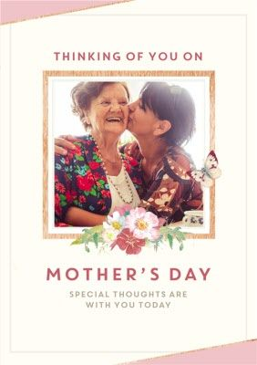 Thinking Of You On Mother S Day Photo Upload Card Sponsored Ad Day Mother Thinking Mother S Day Photos Photoshop Tutorial Design Mothers Day Special