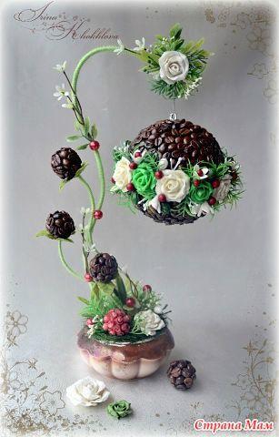 Самые красивые топиарии! | Coffee bean art, Spring diy, Fancy tree | 480x307