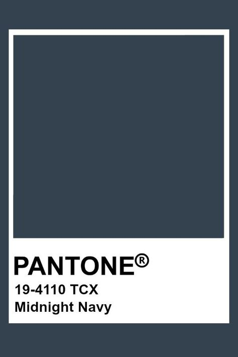 Pantone Midnight Navy