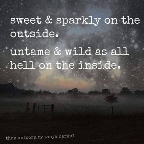Sweet & sparkly on the outside untame & wild as all hell on the inside Hippie is a state of mind, soul, and spirit Thug Unicorn, Gypsy Quotes, Hippie Quotes, Quotes To Live By, Me Quotes, Peace Quotes, Motivation, Emo, Unicorn Quotes
