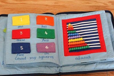 quiet book - this actually has all the same pages from the one my mom made me.