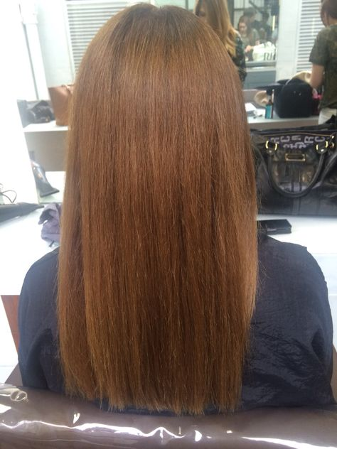 Root tint pulled through to ends and straight blow dry ...