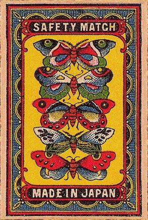 Vintage Illustration Arnon Reisman - A Phillumenist: Lovely rare Japanese labels (gallery Vintage Graphic Design, Graphic Art, Vintage Prints, Vintage Art, Illustration Photo, Japanese Illustration, Vintage Packaging, Vintage Labels, Matchbox Art