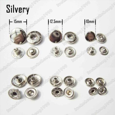No Sew Snap Button Press Stud Leather Bag Coat Rapid Popper Rivet Fastener Tool