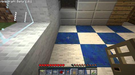 Minecraft Tutorial Wir Bauen Uns Ein Badezimmer Hd Badezimmer Handtuchhalter Heizung Baden