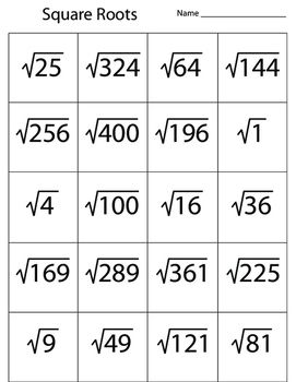 Square Roots Numbers Squared Square Roots Studying Math Learn Another Language