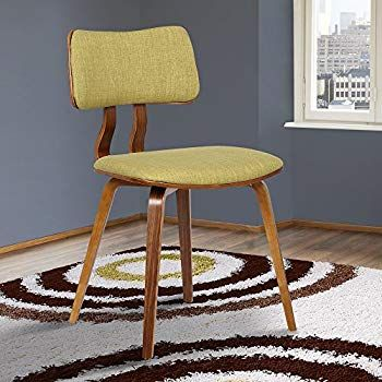 Amazon Com Armen Living Butterfly Dining Chair In Charcoal Fabric And Walnut Wood Finish Mid Century Dining Chairs Upholstered Dining Chairs Dining Chairs