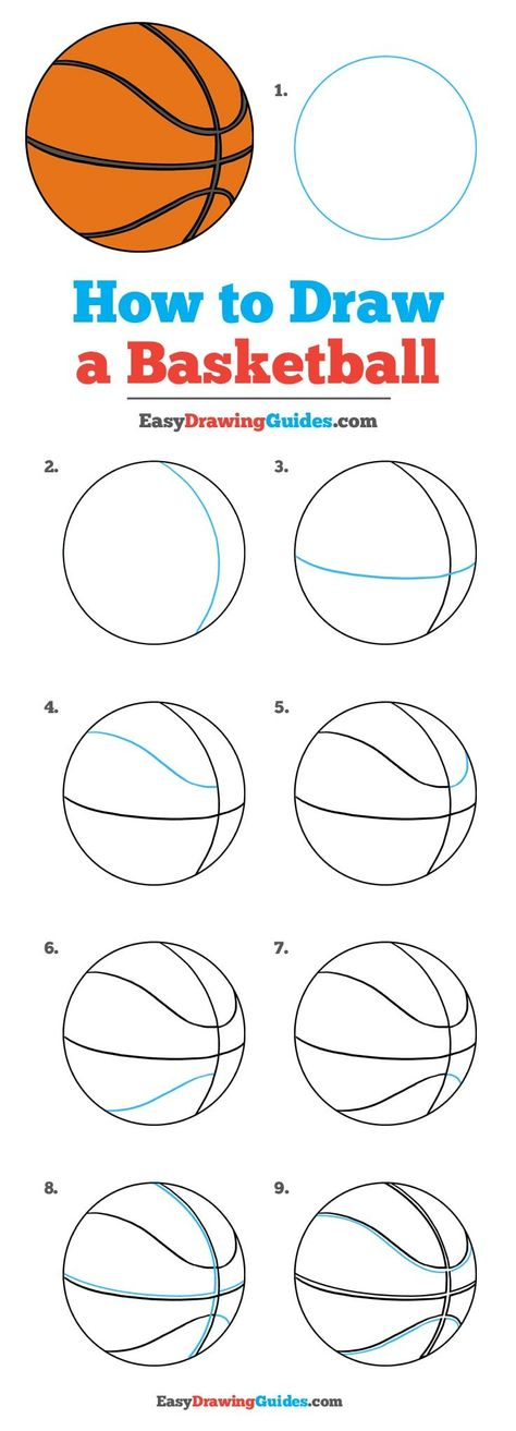 How to Draw a Basketball – Really Easy Drawing Tutorial Learn How to Draw a Basketball: Easy Step-by-Step Drawing Tutorial for Kids and Beginners. See the full tutorial at easydrawingguides. Easy Drawing Tutorial, Drawing Tutorials For Kids, Basic Drawing For Kids, Drawing Ideas, You Draw, Learn To Draw, Learn Drawing, Drawing Lessons, Drawing Techniques