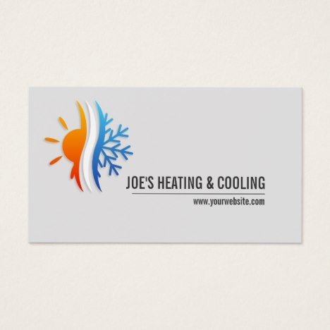 Heating Air Conditioning Cooling Business Card Zazzle Com In