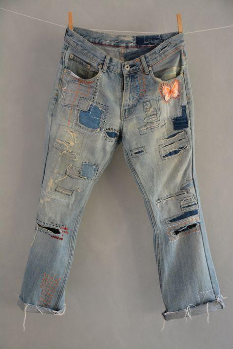 Vintage jean's High Waist Denim Jeans Medium Blue Wash