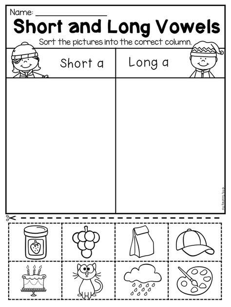 Kindergarten Long And Short Vowel Worksheet This Winter Kindergarten Math And Literacy Works Short Vowel Worksheets Vowel Worksheets Short Vowels Kindergarten