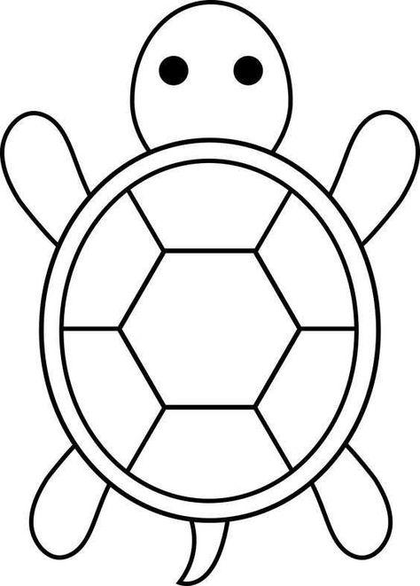 Kaplumbaga Boyama Sayfalari Okul Oncesi Etkinlik Faliyetleri