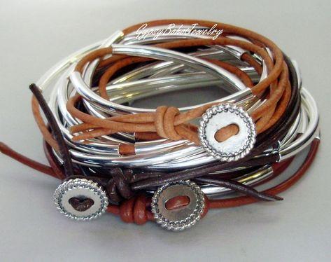 Single Cord Cascading /& Expandable Adjustable Beaded Tube Multi Wrap Real Leather Boho Bangle Bracelet Anklet Necklace LEATHER Bracelet
