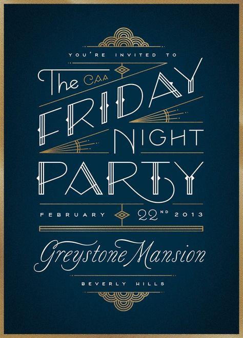 keywords: art deco gala invitation fundraiser benefit party non-profit roaring 20s
