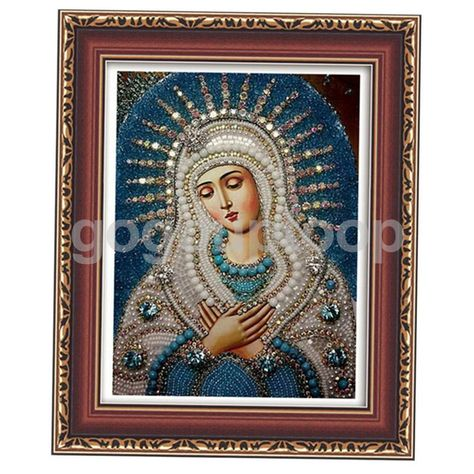 5D DIY Cross Stitch Religious Godness Jesus Diamond Embroidery Painting Decor
