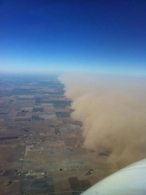 Dust Storm as Seen From the Air, Midland, Texas, 11-2-2011