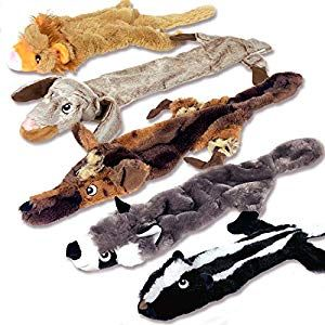 High Five Pets Dog Squeaky Toys No Stuffing Dog Toys Set No