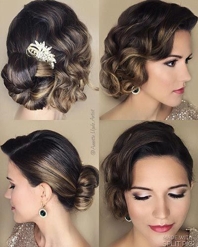Vintage Wedding Trend Gatsby Weddings Hair Styles Gatsby Hair Gatsby Wedding Hair