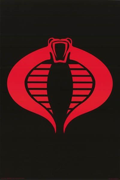 Gi Joe Cobra Logo Poster 24x36 Gi Joe Cobra Cobra Art Gi Joe