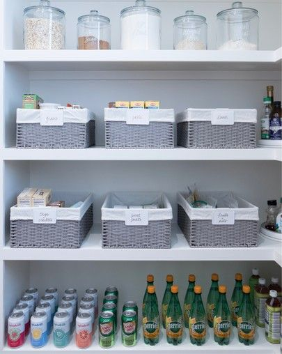 We Love A Good Pantry Baskets For Large Groupings Canisters For