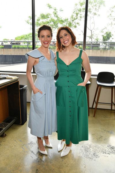Actors Gillian Jacobs and Vanessa Bayer attend Day Two of the Vulture Festival.