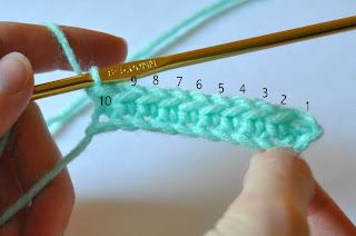 Crochet-Knitting  explains counting chains plus more