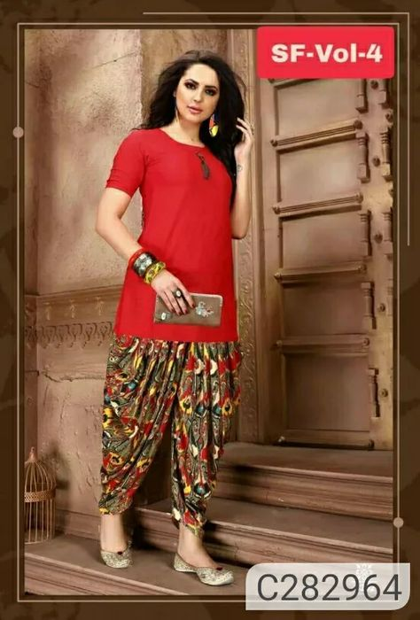 :)*Follow Me* http://fcity.in/mii  :)*Follow Me* http://fcity.in/mii  :)Trendy Kurti With Patiyala Pant  Package Contains: 1 Kurti & 1 Patiala Salwar  Kurti Fabric: Rayon  Patiala Fabric: Crepe  Size: M-38, L-40, XL-42, 2XL-44  Sleeves: Half Sleeves  Kurti Length: 44