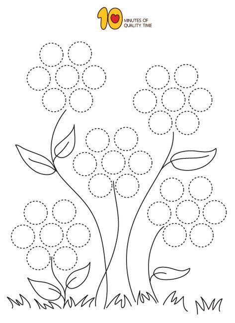 Dot Activity - Flowers (con imágenes) | Hojas de trabajo ...