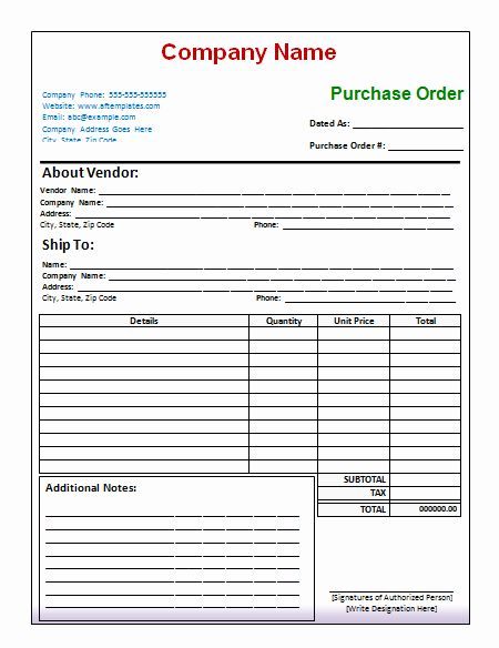 Order Form Template Excel Lovely Purchase Order Template Free Printables Purchase Order Template Purchase Order Form Invoice Template Word