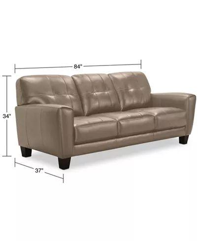 Groovy Martha Stewart Collection Bradyn Leather Sofa Collection Machost Co Dining Chair Design Ideas Machostcouk