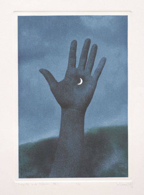 Liliana Porter Magritte Photo etching and Aquatint Plate size: 12 ¾ x 9 Rene Magritte, Banksy, Illustration Art, Illustrations, Max Ernst, Art Moderne, Surreal Art, Occult, Printmaking