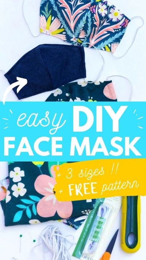 Quick & Easy DIY Face Mask {Printable Pattern}