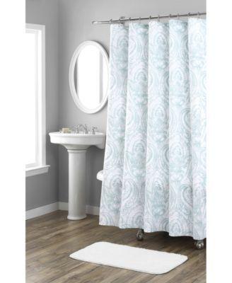 Nicole Miller Melina Printed Spring Shower Curtain Macys Com