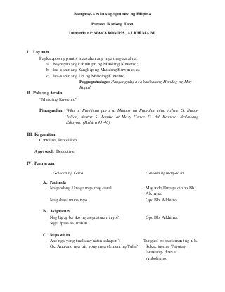 Detailed Lesson Plan In Filipino By Alkhima Macarompis In 2021 Lesson Plan In Filipino 4a S Lesson Plan How To Plan