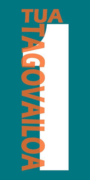 Tua Tagovailoa Miami Dolphins Jersey Number Art 1 By Joe Hamilton In 2020 Miami Dolphins Dolphins Joe Hamilton