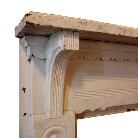 Love the scallop design!  Antique Fireplace Mantels Salvaged from Nashville Home, c. 1890 - TWO AVAILABLE
