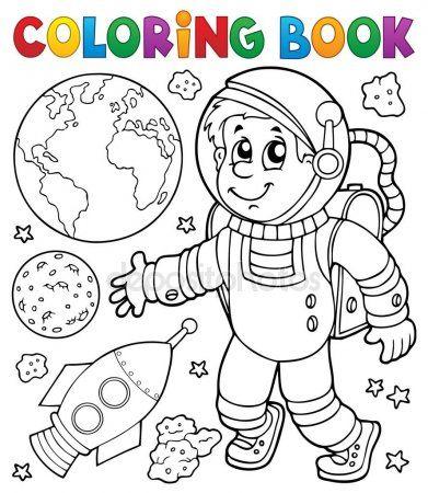 Tema De Astronauta Para Colorir Livro 1 Com Imagens Desenhos