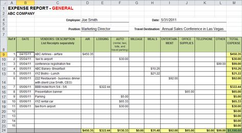 Image Result For Expense Sheet  Business Info