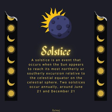 A solstice is an event that occurs when the Sun appears to reach its most northerly or southerly excursion relative to the celestial equator on the celestial sphere. Two solstices occur annually, around June 21 and December 21. Solistice is the day of longest day or longest night depending on location on Earth' hemisphere. #Sun #Moon #Earth #Equator #northernhemisphere #southernhemisphere #longestdayoftheyear #longestday #longestnight #longestnightoftheyear #solistice #solistice2020 #21stdecem