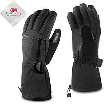 Men Waterproof Warmest Winter Gloves Acokac Touchscreen Snow Snowboard Ski Gloves 3m Thinsulate Warmest Winter Gloves Best Winter Gloves Cold Weather Gloves