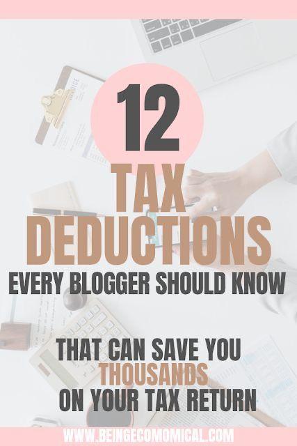 12 Blogger Tax Deductions - Ecomomical