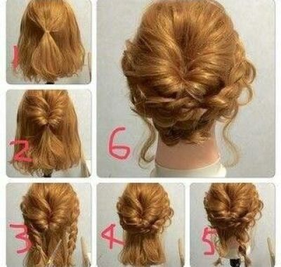 Prom Hairstyles For Medium Length Hair Step By Step Short Hair Styles Short Hair Updo Medium Hair Styles