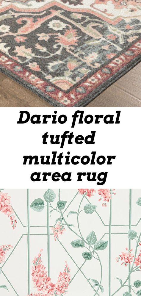 Dario floral tufted multicolor area rug