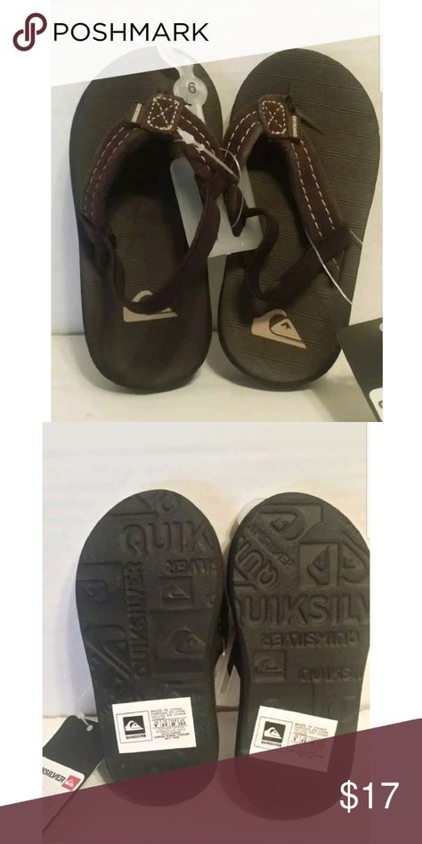 e54c78d0b486 New Quicksilver Carver Suede Toddler Flip Flops 6 Suede toddler flip flops  NEW shelf pulls may have minor wear due to storage and handling.