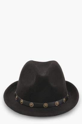 eb35e279e boohoo Kelly Metal Trim Western Trilby #hat #womens | Hats | Hats ...