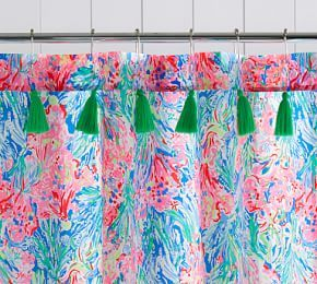 Lilly Pulitzer Jungle Lilly Pool Towel Printed Shower Curtain