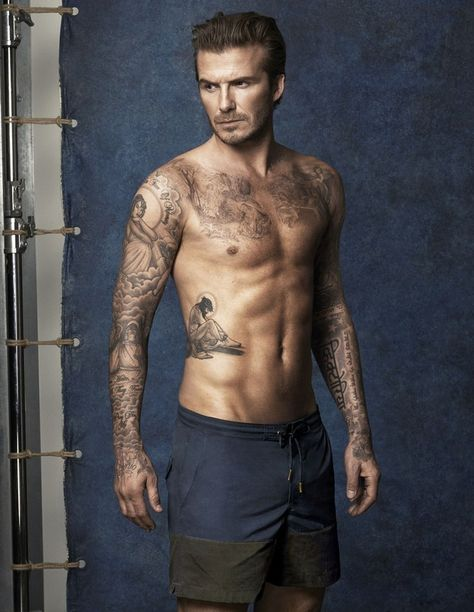 David Beckham's Hot Shirtless Body is on Display for New H&M Bodywear Swimwear Collection! David Beckham's shirtless body is on full display in these brand new images for his brand new swimwear for the H&M David Beckham Bodywear range.