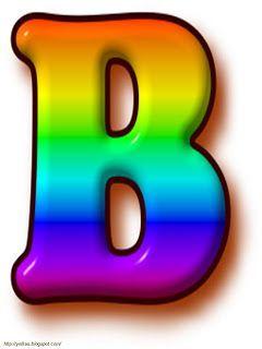 Yolitas Decoraciones Letras del Alfabeto - Abecedario en Colores Arco Iris Dibujo de Todas las letras del Abecedario en Español en ...